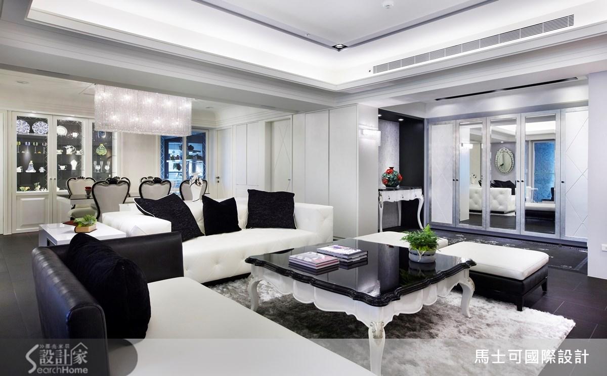 56坪新成屋(5年以下)_奢華風案例圖片_馬士可國際設計有限公司_馬士可_02之2