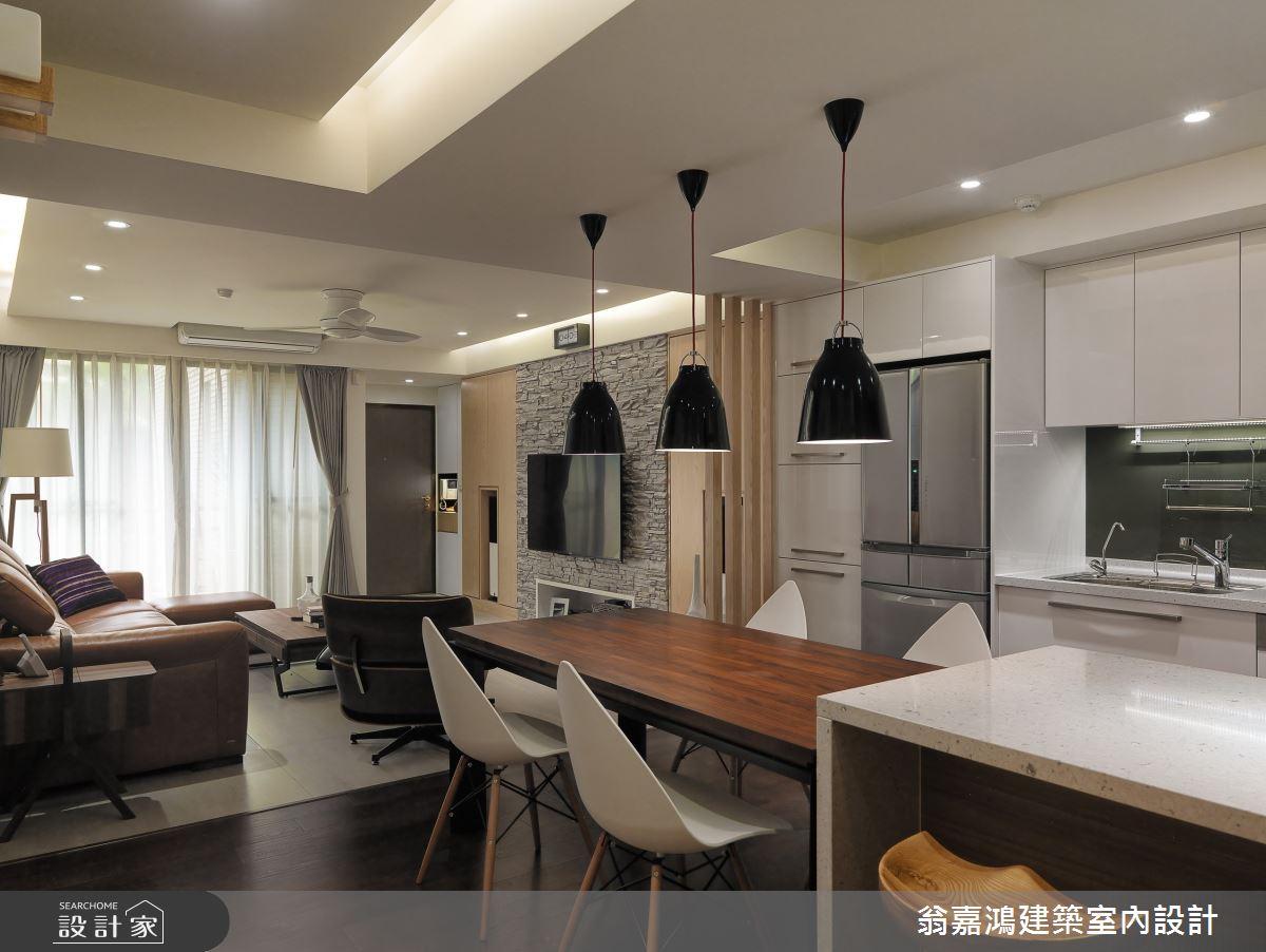 40坪老屋(16~30年)_簡約風案例圖片_翁嘉鴻建築室內設計_懷生_C House-2之2
