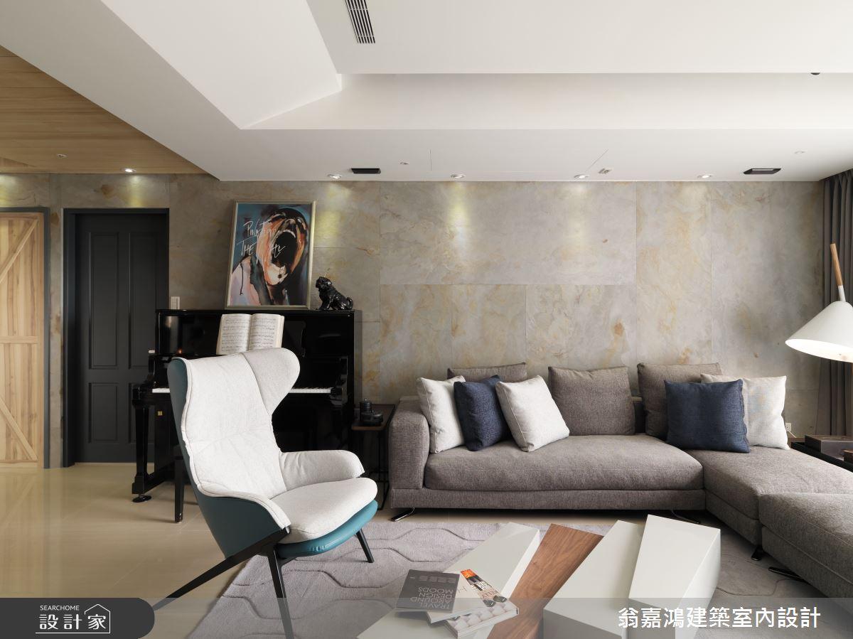 60坪新成屋(5年以下)_北歐風案例圖片_翁嘉鴻建築室內設計_懷生_11.台中-W House之8