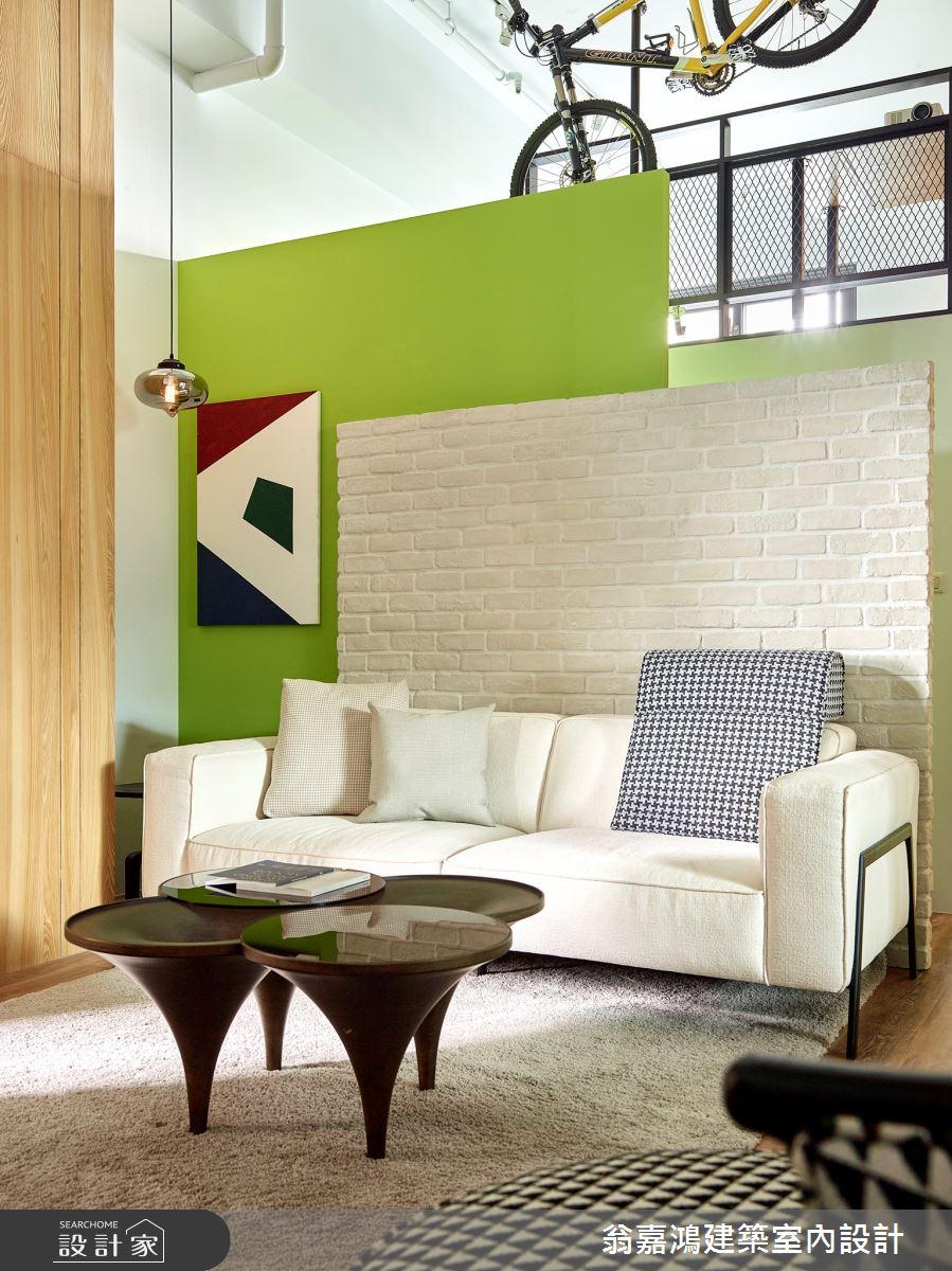 40坪新成屋(5年以下)_療癒風案例圖片_翁嘉鴻建築室內設計_懷生_L House-4之2