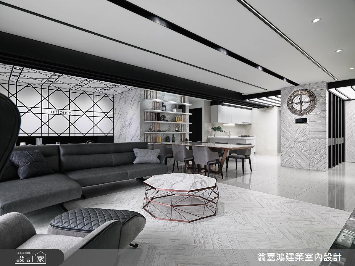 75坪新成屋(5年以下)_現代風案例圖片_翁嘉鴻建築室內設計_懷生_L House-6之2