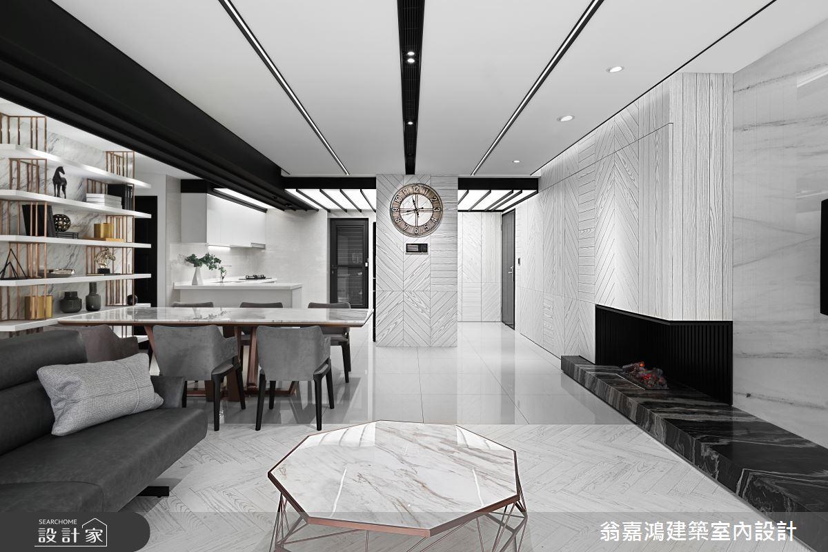 75坪新成屋(5年以下)_現代風案例圖片_翁嘉鴻建築室內設計_懷生_L House-6之3