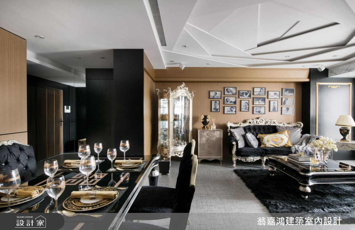 40坪老屋(16~30年)_奢華風案例圖片_翁嘉鴻建築室內設計_懷生_E House-1之4