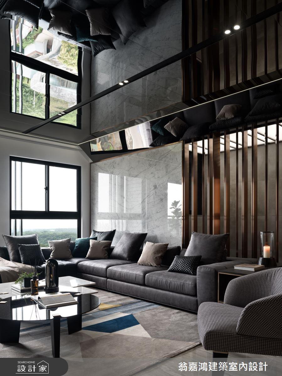 90坪新成屋(5年以下)_現代風案例圖片_翁嘉鴻建築室內設計_懷生_林口-C House之3