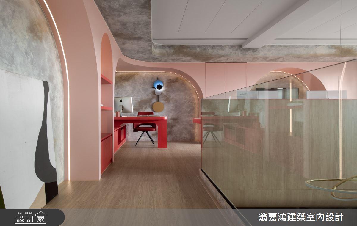 30坪新成屋(5年以下)_現代風商業空間案例圖片_翁嘉鴻建築室內設計_懷生_58.八里-路達交通有限公司辦公室之13