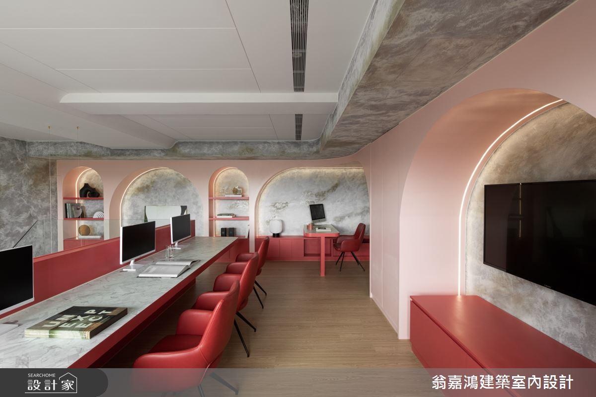 30坪新成屋(5年以下)_現代風商業空間案例圖片_翁嘉鴻建築室內設計_懷生_58.八里-路達交通有限公司辦公室之16