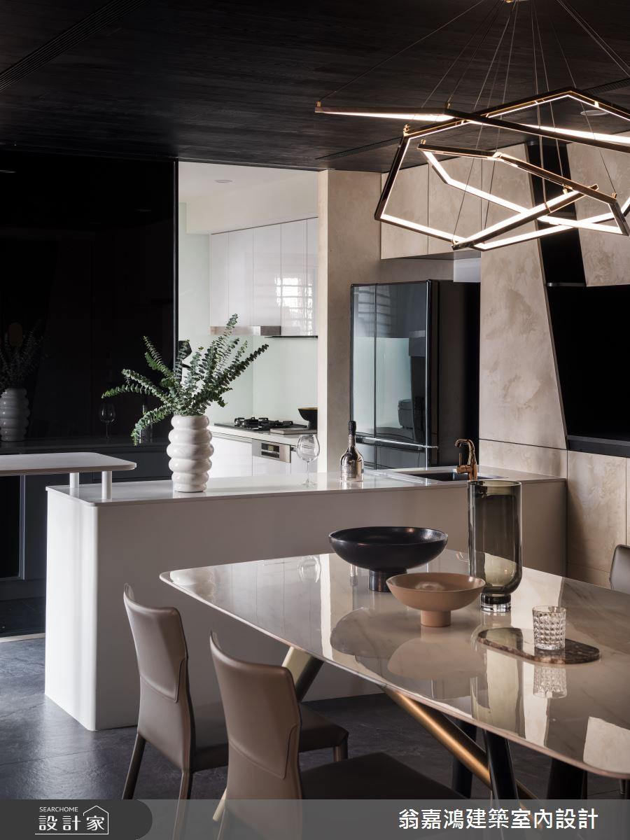 80坪新成屋(5年以下)_現代風餐廳吧檯案例圖片_翁嘉鴻建築室內設計_懷生_61.林口-C House之2