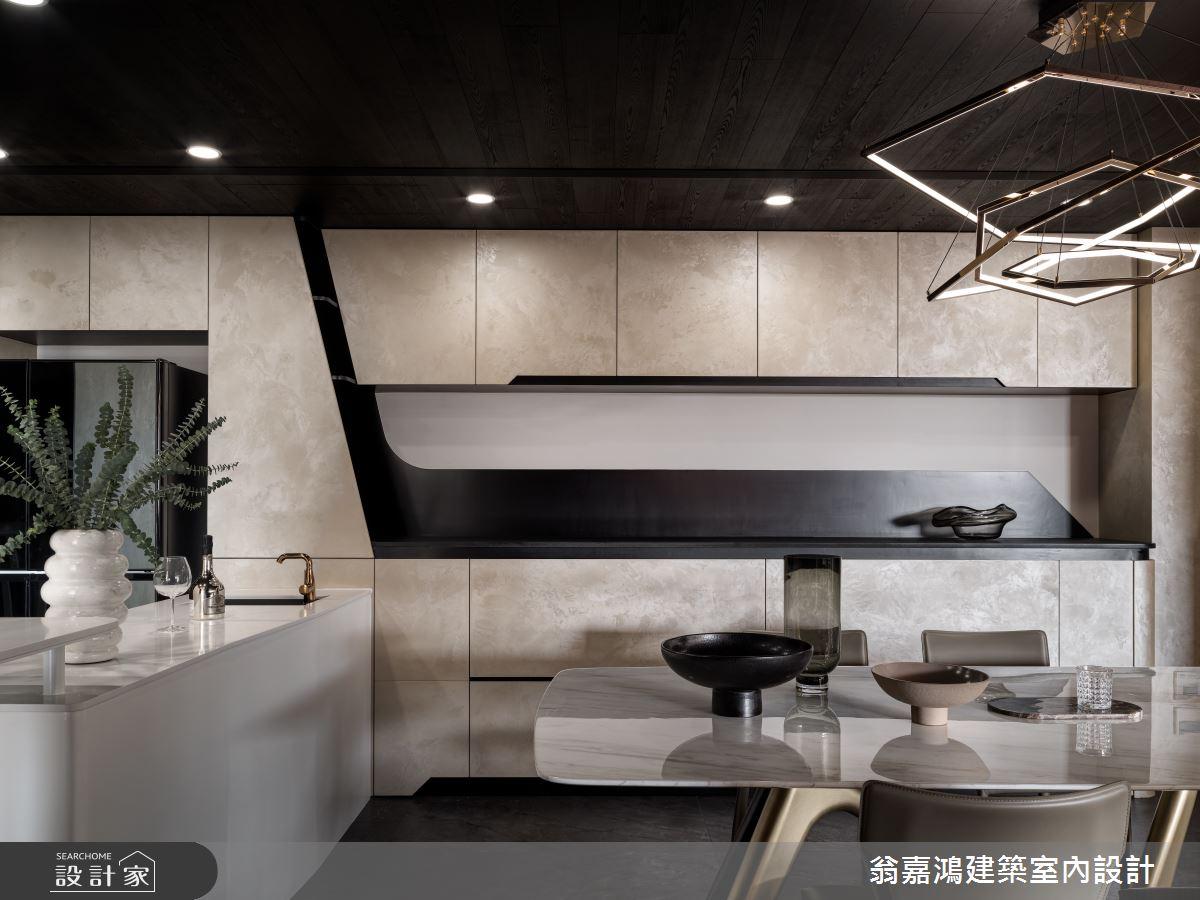 80坪新成屋(5年以下)_現代風餐廳吧檯案例圖片_翁嘉鴻建築室內設計_懷生_61.林口-C House之3