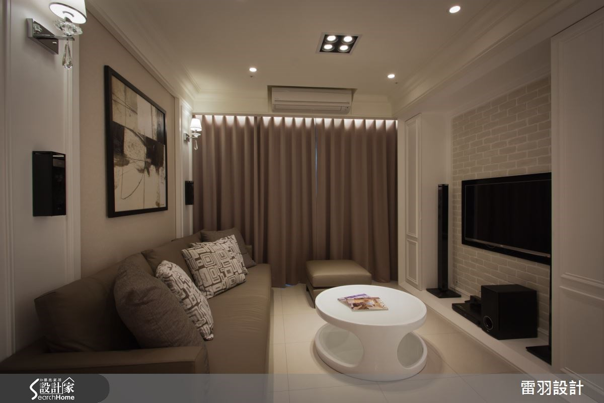 17坪新成屋(5年以下)_新古典客廳案例圖片_雷羽設計_雷羽_04之1