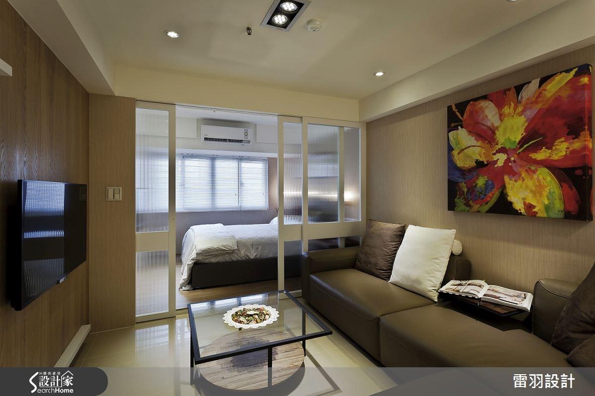 10坪老屋(16~30年)_現代風客廳臥室案例圖片_雷羽設計_雷羽_07之4