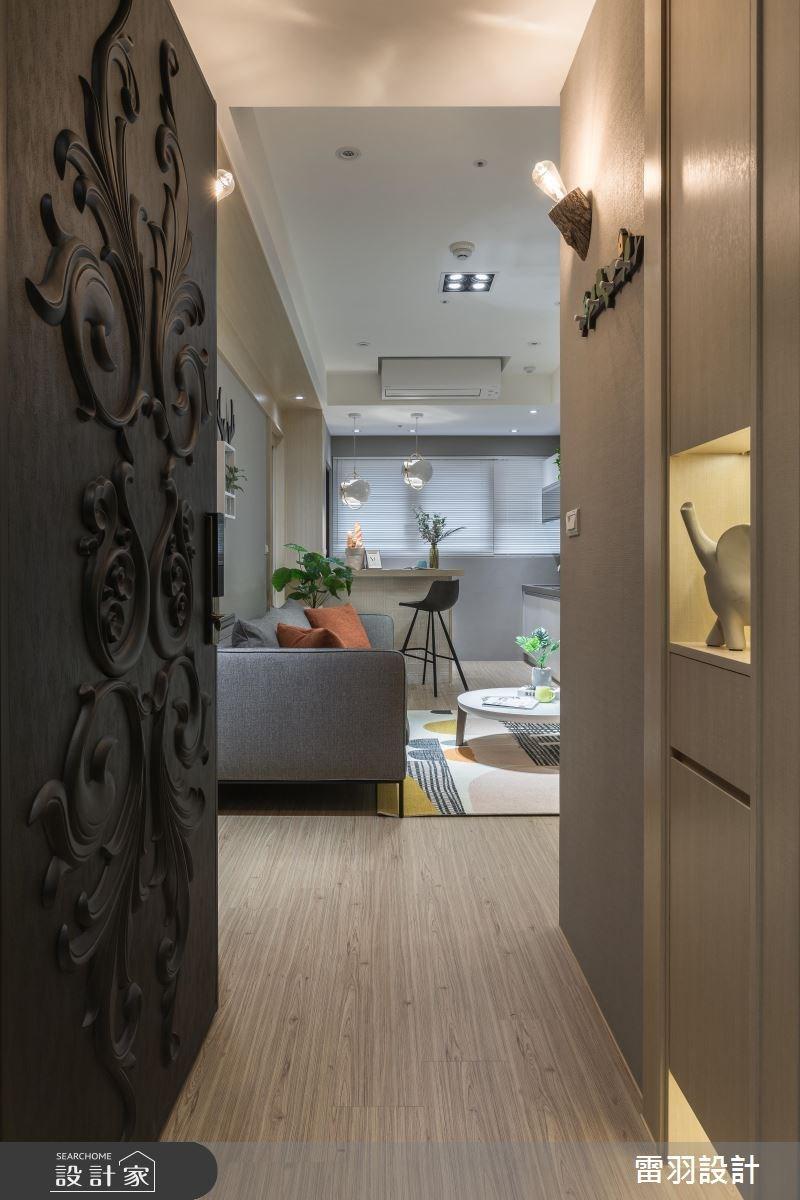 18坪新成屋(5年以下)_北歐風客廳案例圖片_雷羽設計_雷羽_22之1