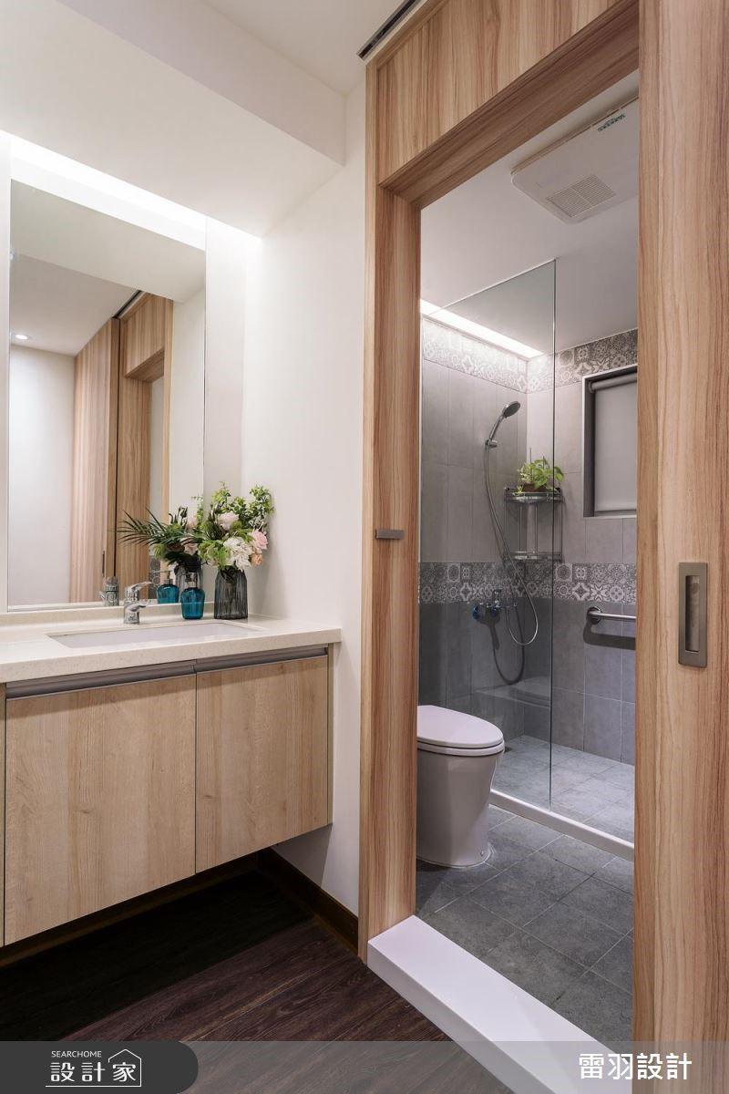 21坪老屋(16~30年)_北歐風浴室案例圖片_雷羽設計_雷羽_25之16