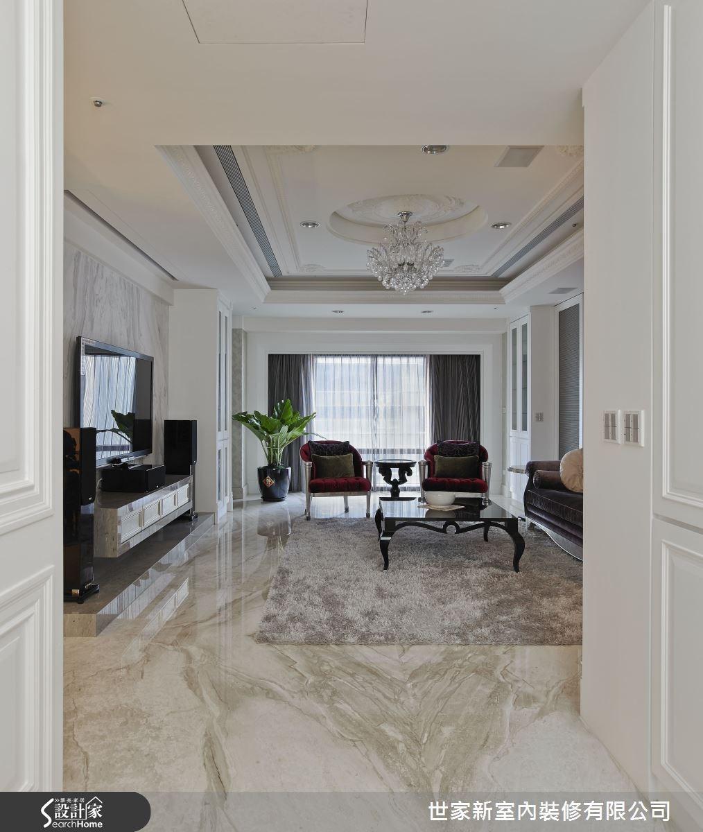 70坪新成屋(5年以下)_新古典客廳案例圖片_世家新室內裝修有限公司_世家新_02之3