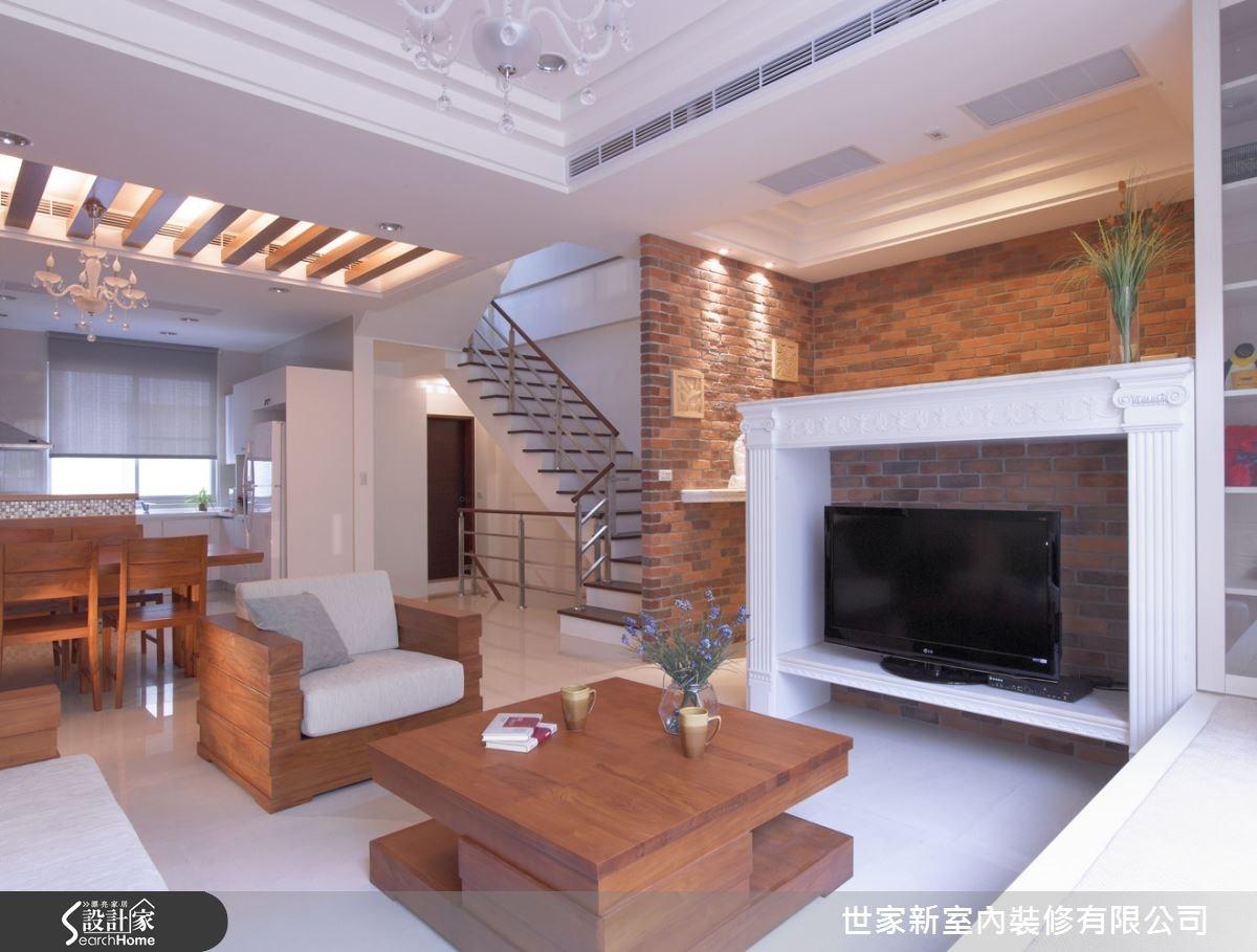 80坪中古屋(5~15年)_混搭風客廳案例圖片_世家新室內裝修有限公司_世家新_08之5