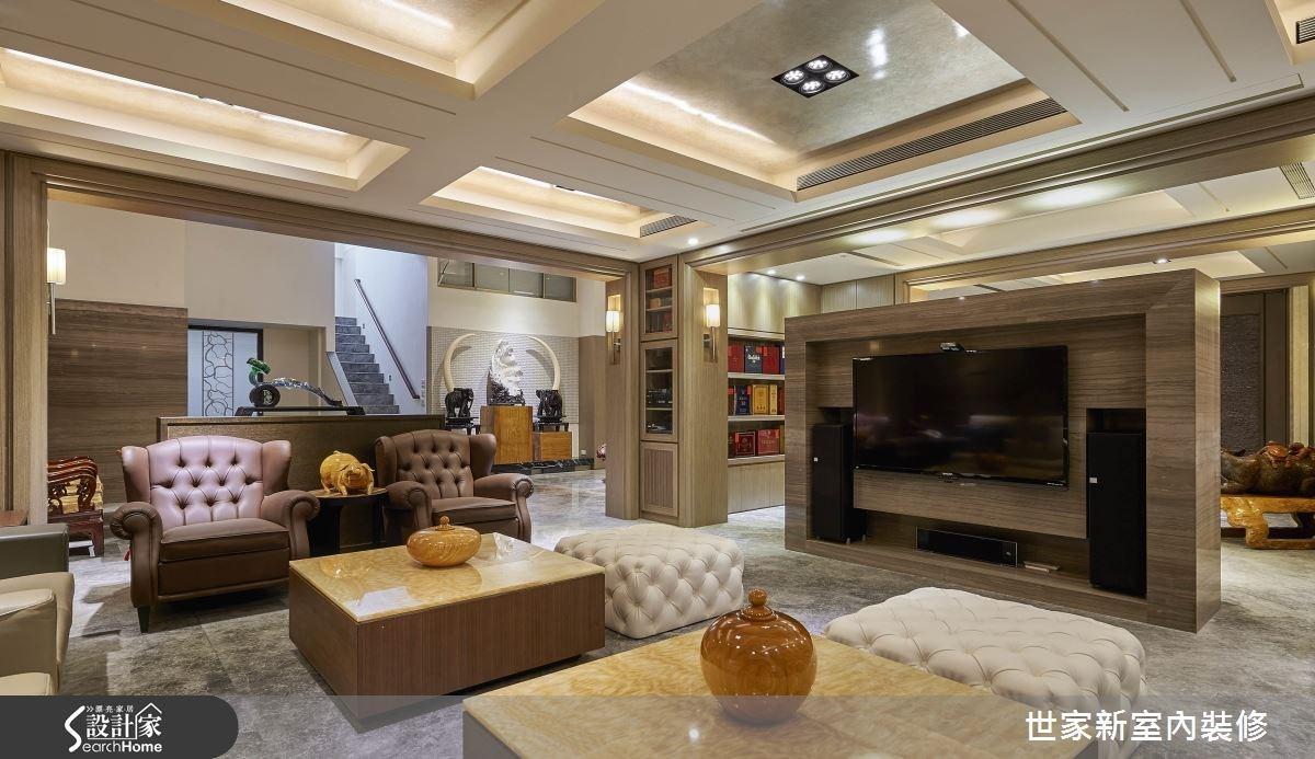 70坪老屋(16~30年)_新中式風客廳案例圖片_世家新室內裝修有限公司_世家新_10之13