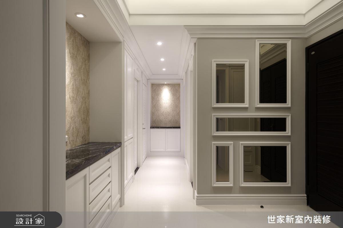 45坪新成屋(5年以下)_新古典玄關案例圖片_世家新室內裝修有限公司_世家新_12之2