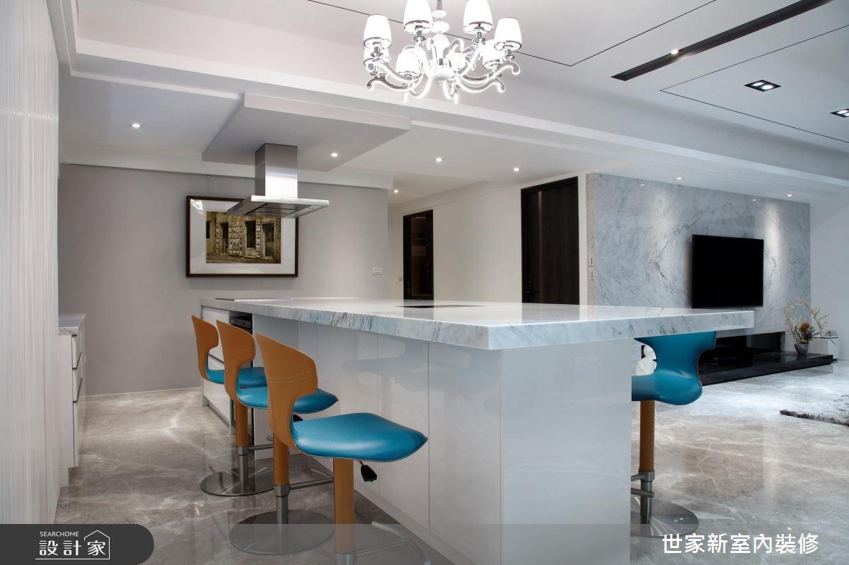 85坪新成屋(5年以下)_現代風吧檯案例圖片_世家新室內裝修有限公司_世家新_13之10