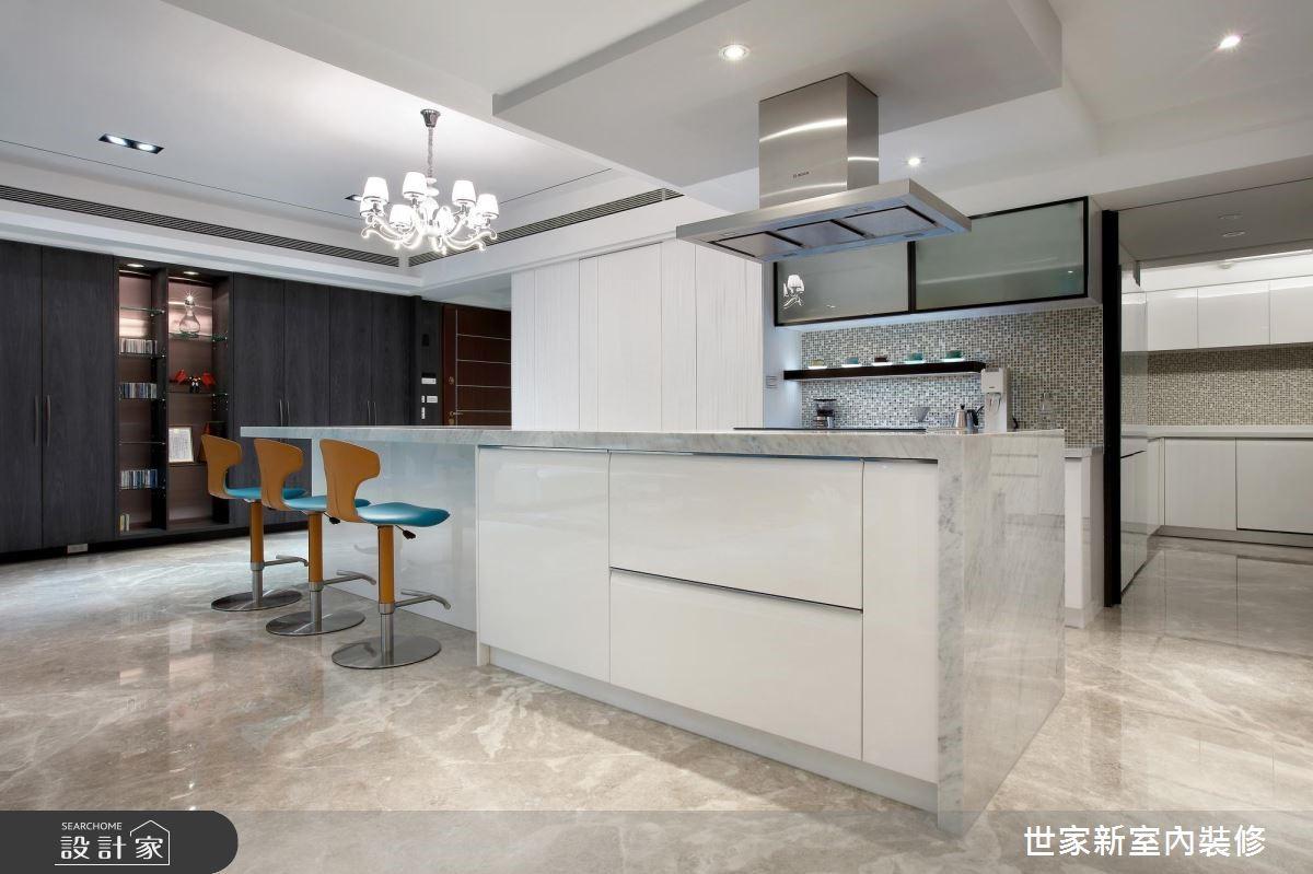 85坪新成屋(5年以下)_現代風廚房吧檯案例圖片_世家新室內裝修有限公司_世家新_13之7