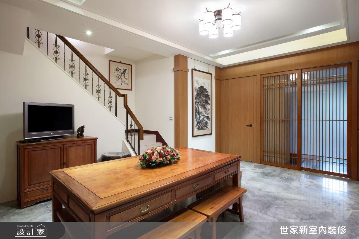55坪新成屋(5年以下)_人文禪風佛堂樓梯案例圖片_世家新室內裝修有限公司_世家新_17之2