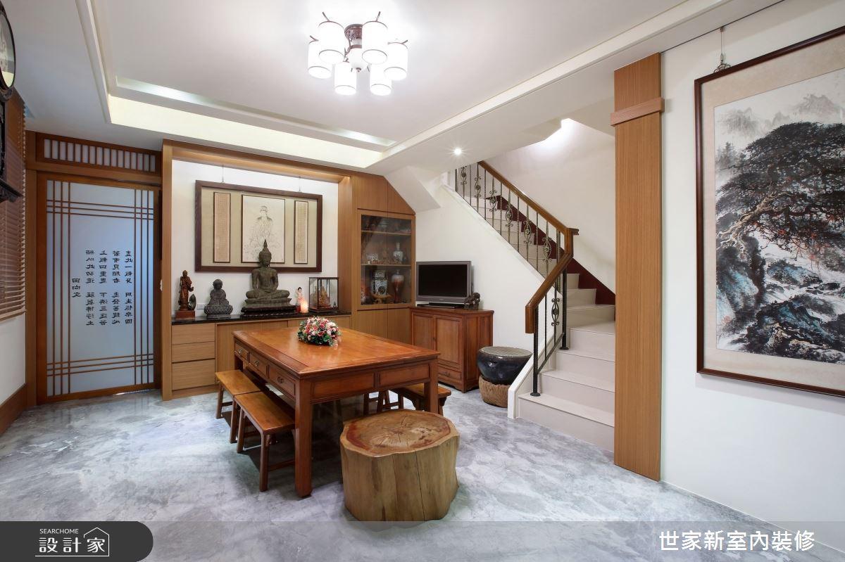 55坪新成屋(5年以下)_人文禪風佛堂樓梯案例圖片_世家新室內裝修有限公司_世家新_17之1
