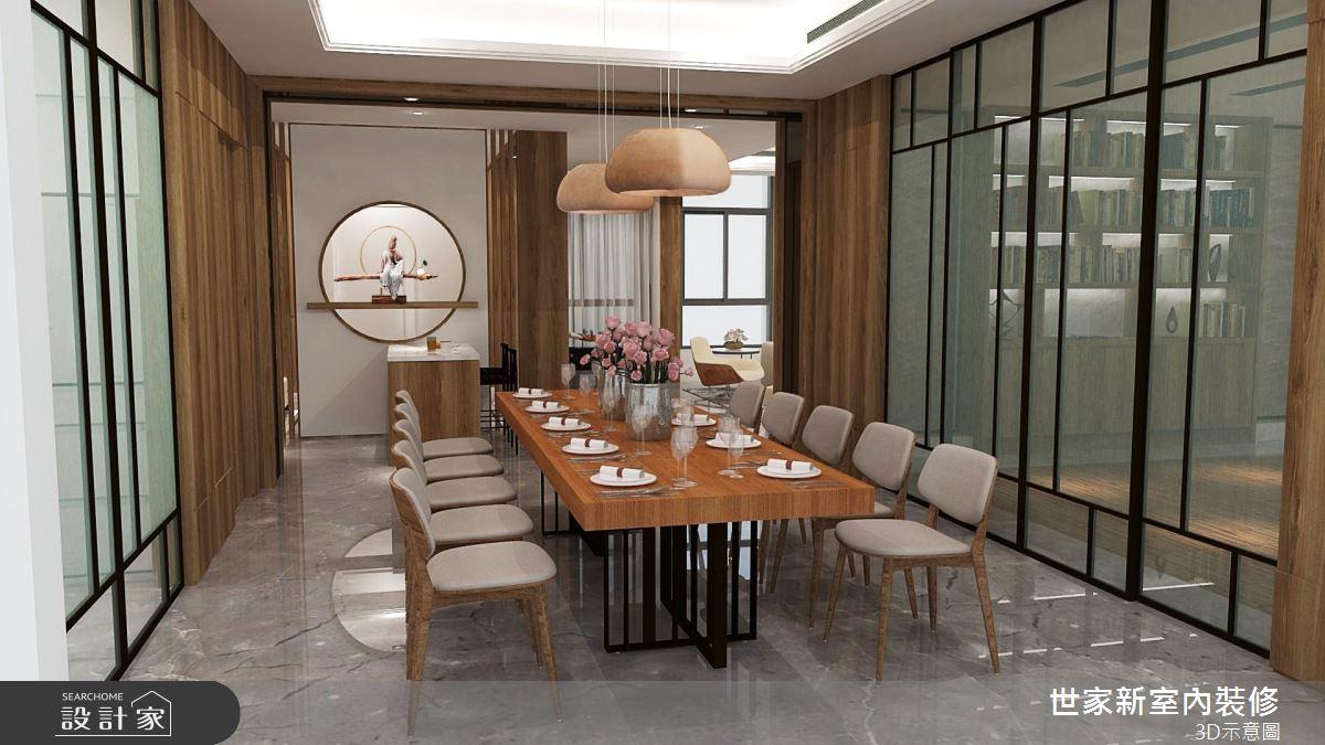 110坪新成屋(5年以下)_人文禪風餐廳案例圖片_世家新室內裝修有限公司_世家新_19之5