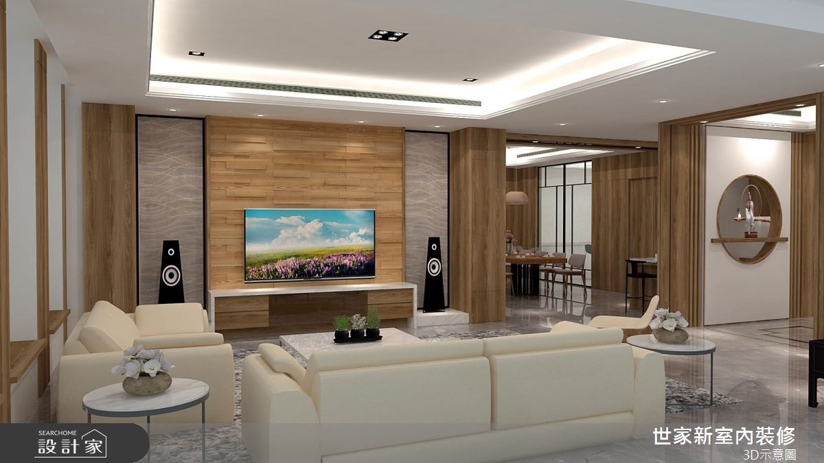 110坪新成屋(5年以下)_人文禪風客廳案例圖片_世家新室內裝修有限公司_世家新_19之4