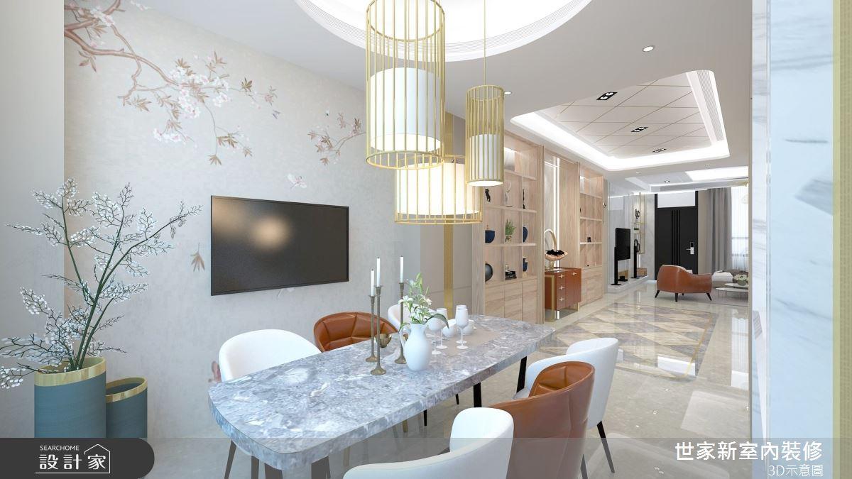 110坪預售屋_混搭風餐廳案例圖片_世家新室內裝修有限公司_世家新_21之5