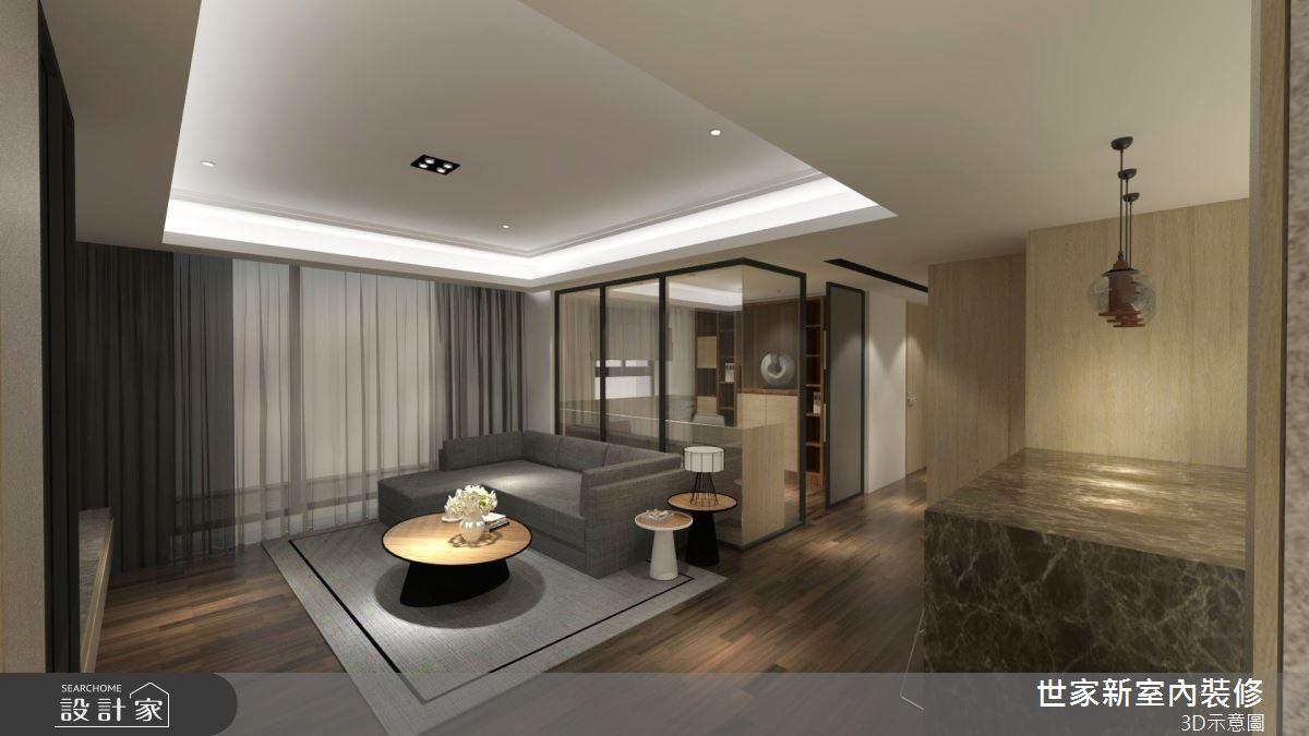 25坪新成屋(5年以下)_人文禪風客廳案例圖片_世家新室內裝修有限公司_世家新_23之2
