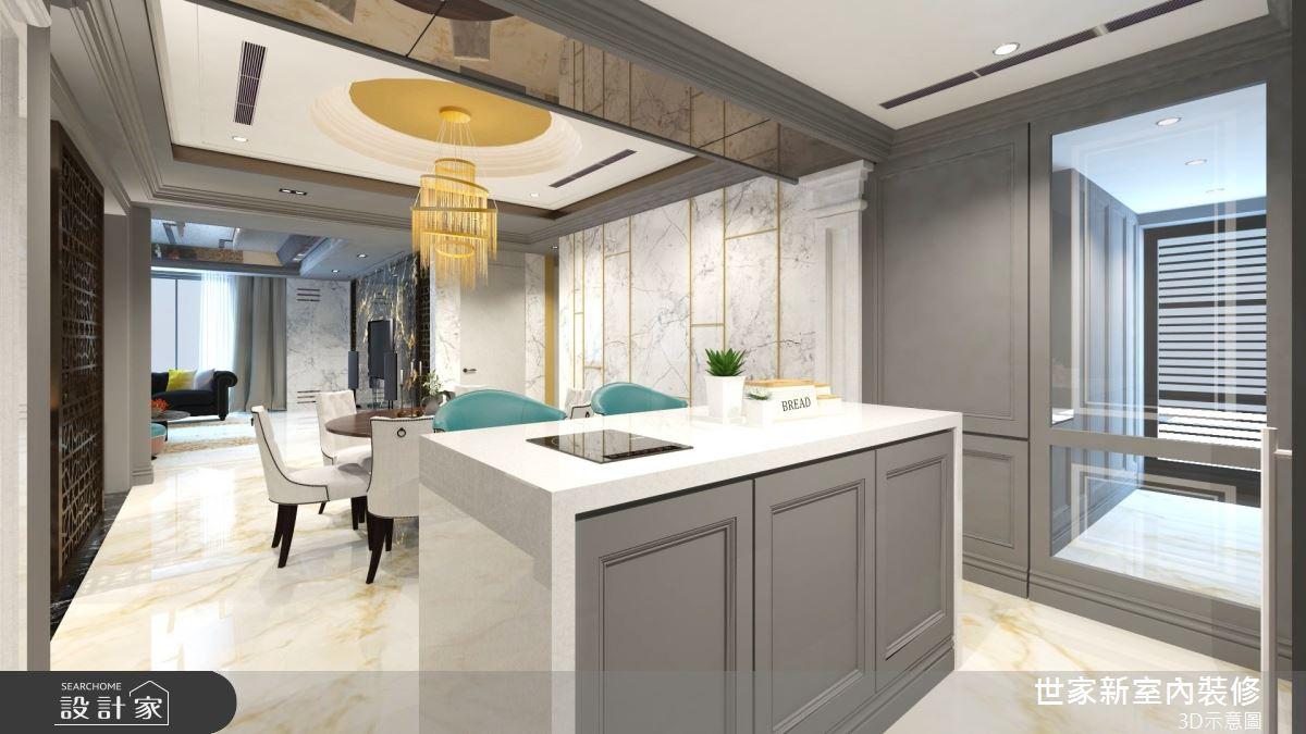 55坪新成屋(5年以下)_奢華風中島案例圖片_世家新室內裝修有限公司_世家新_28之4
