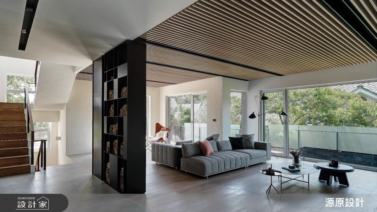 103坪新成屋(5年以下)_現代風客廳樓梯案例圖片_源原設計 Peny Hsieh Interiors_源原_14之3