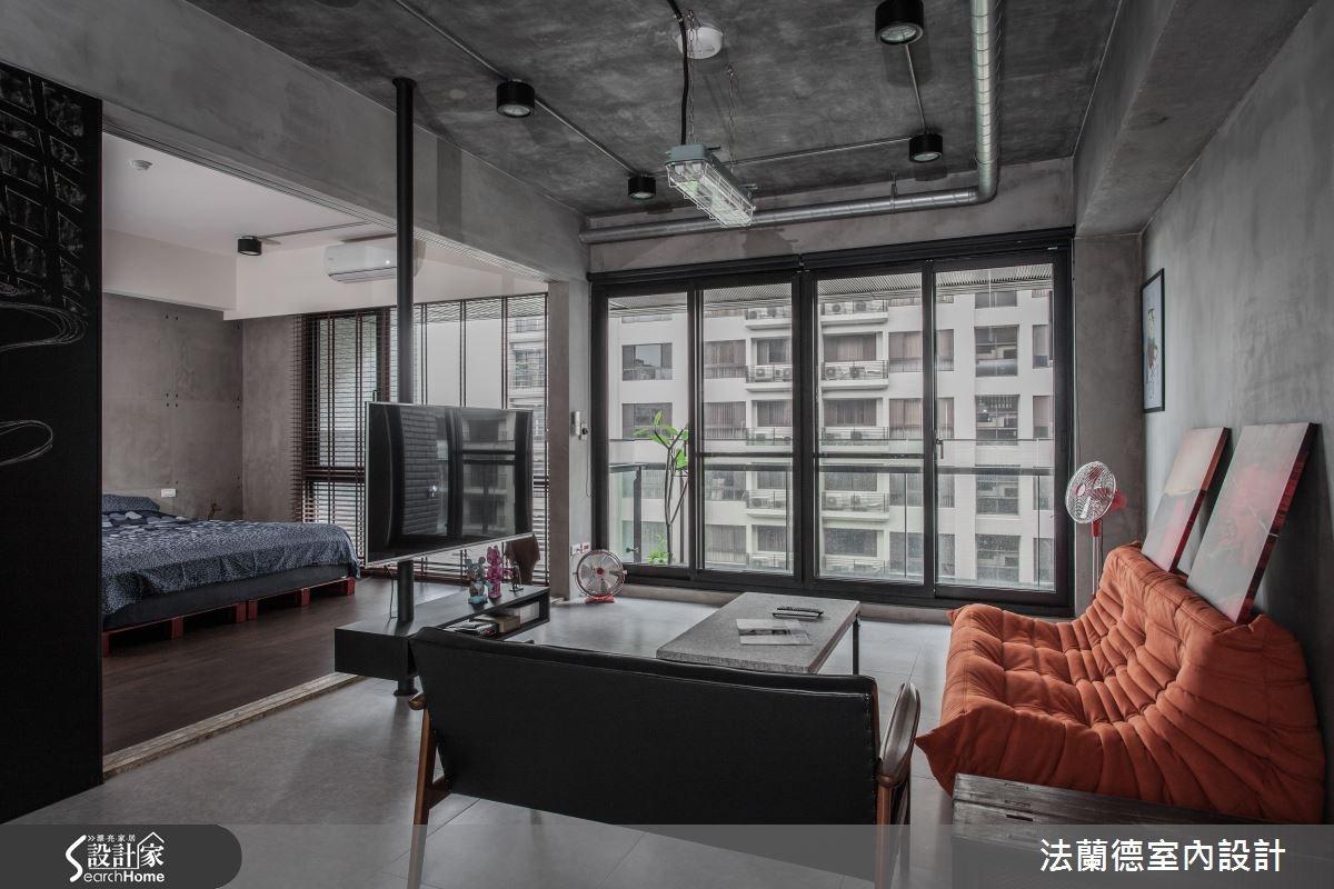 26坪新成屋(5年以下)_工業風客廳案例圖片_法蘭德室內設計_法蘭德_09之1