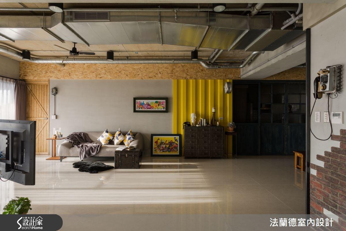 40坪新成屋(5年以下)_工業風客廳案例圖片_法蘭德室內設計_法蘭德_13之1
