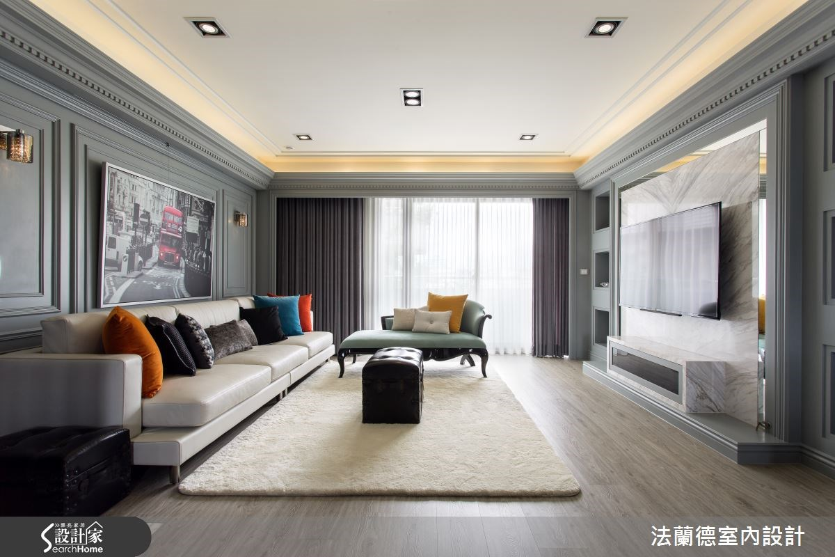 40坪老屋(16~30年)_新古典客廳案例圖片_法蘭德室內設計_法蘭德_16之2