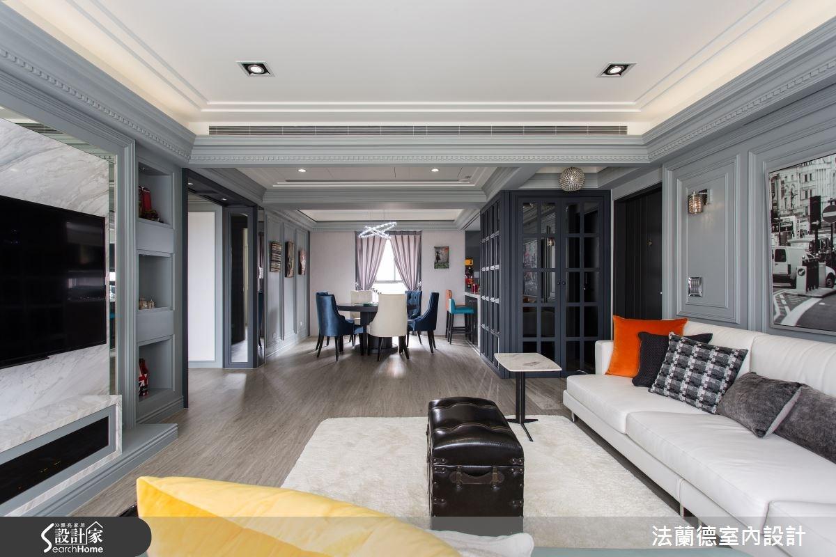 40坪老屋(16~30年)_新古典客廳案例圖片_法蘭德室內設計_法蘭德_16之3