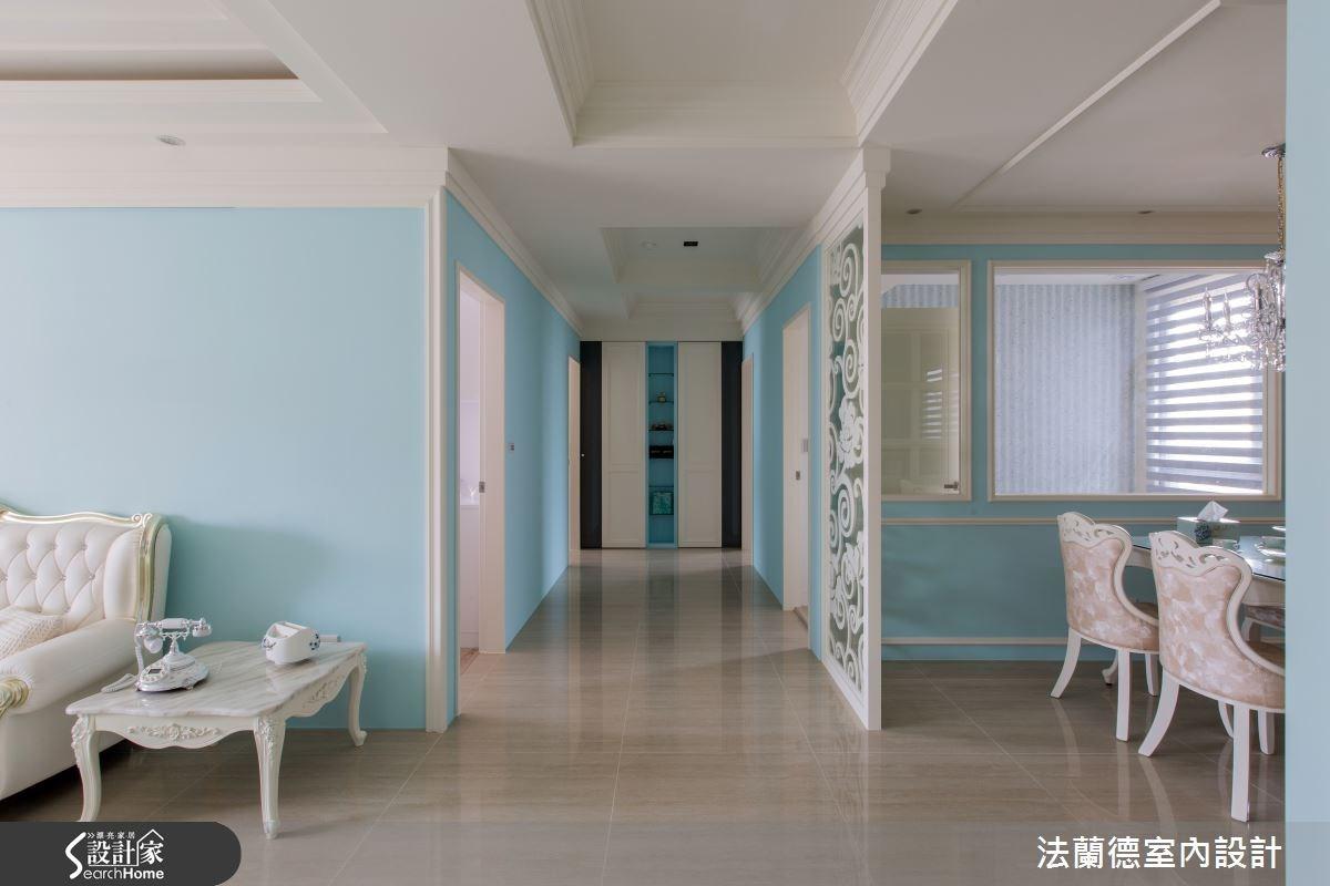 50坪新成屋(5年以下)_新古典走廊案例圖片_法蘭德室內設計_法蘭德_19之3
