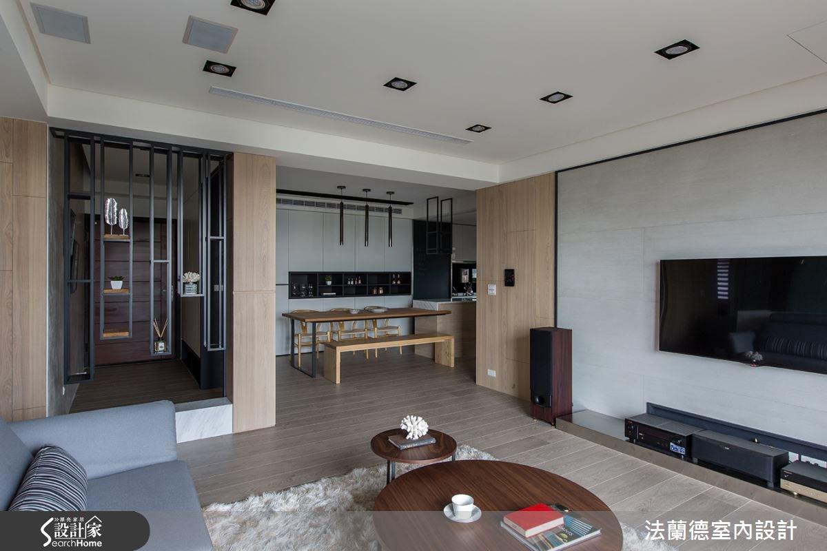 55坪新成屋(5年以下)_現代風客廳案例圖片_法蘭德室內設計_法蘭德_21之3