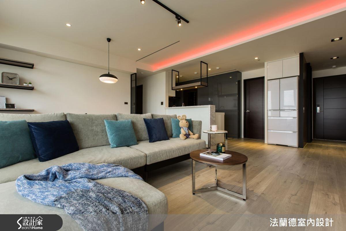 25坪新成屋(5年以下)_混搭風客廳案例圖片_法蘭德室內設計_法蘭德_24之3