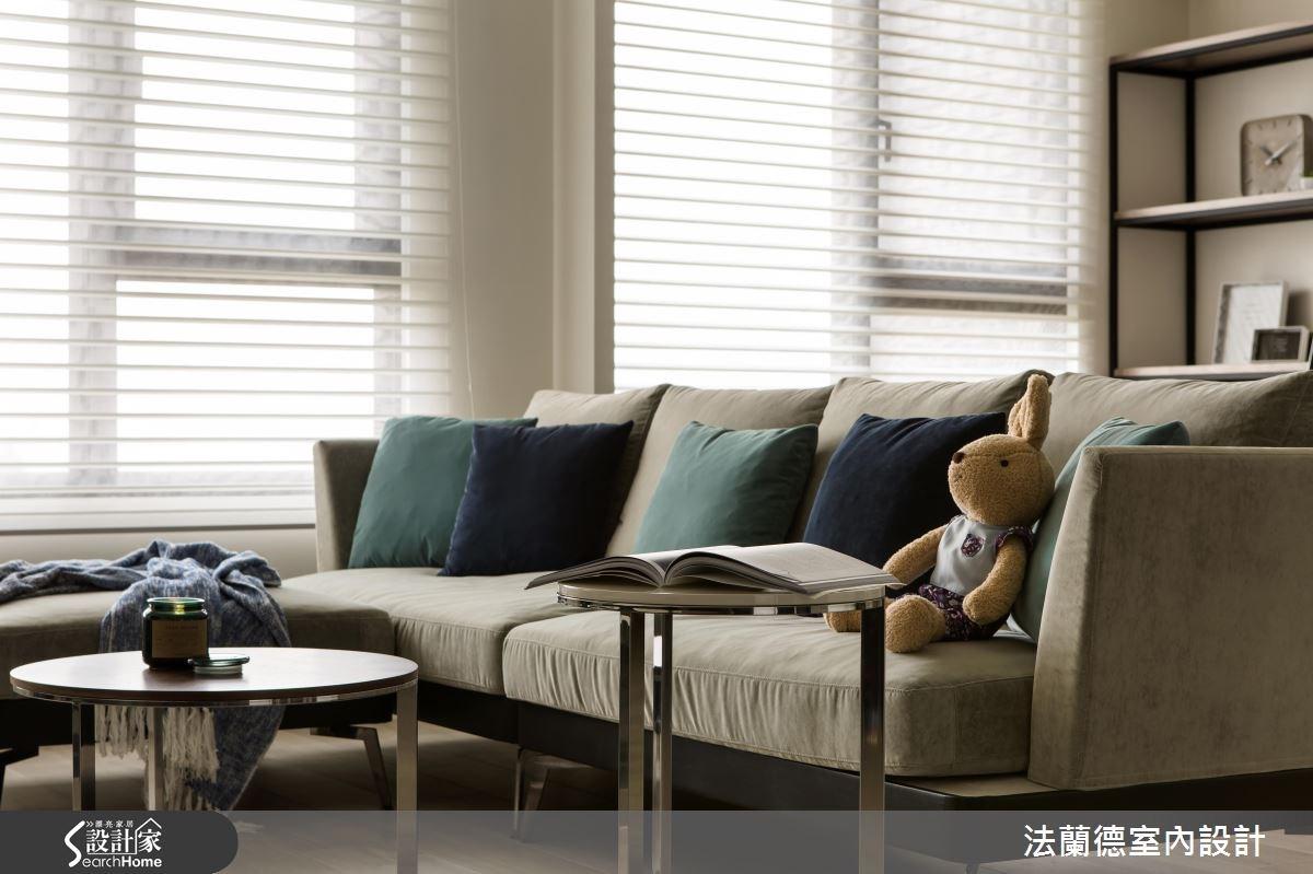 25坪新成屋(5年以下)_混搭風客廳案例圖片_法蘭德室內設計_法蘭德_24之5