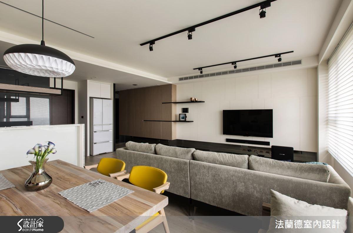 25坪新成屋(5年以下)_混搭風客廳餐廳案例圖片_法蘭德室內設計_法蘭德_24之7