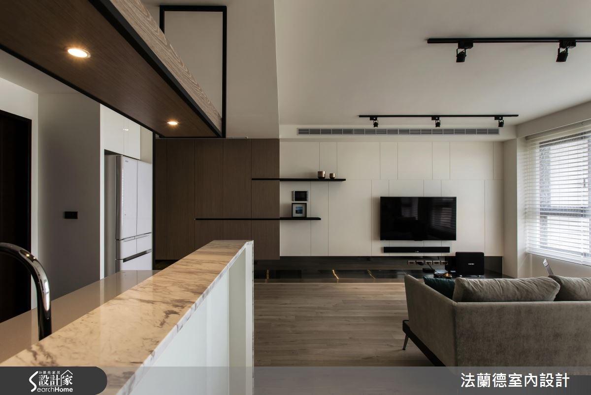 25坪新成屋(5年以下)_混搭風客廳案例圖片_法蘭德室內設計_法蘭德_24之8