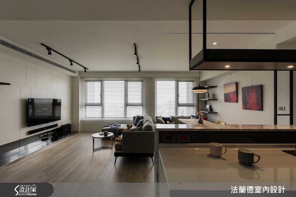 25坪新成屋(5年以下)_混搭風客廳案例圖片_法蘭德室內設計_法蘭德_24之9