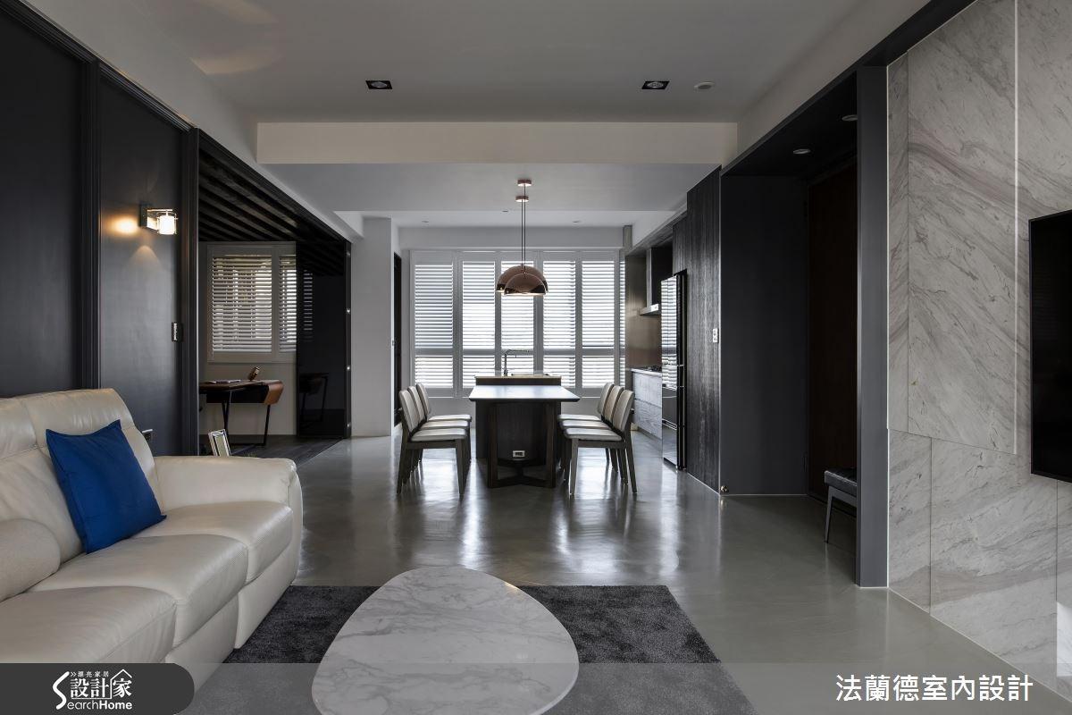 31坪新成屋(5年以下)_現代風客廳餐廳案例圖片_法蘭德室內設計_法蘭德_26之4