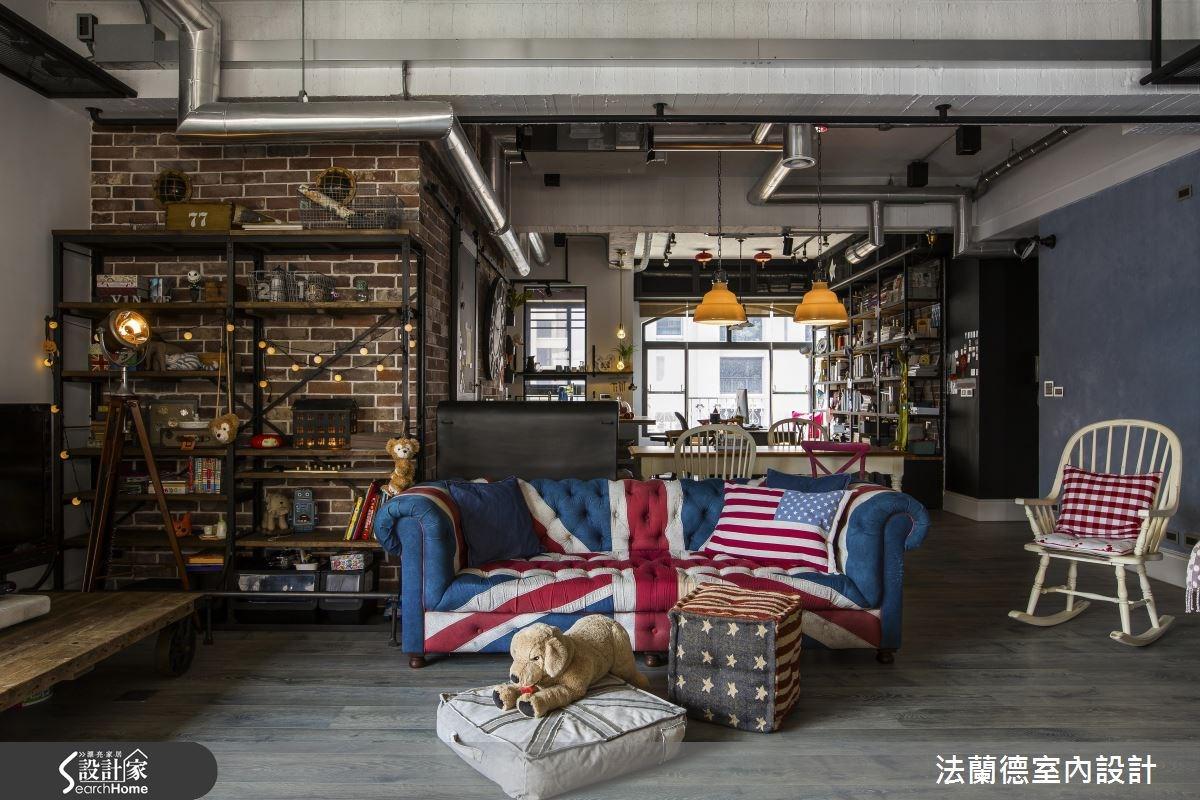 42坪老屋(16~30年)_工業風客廳案例圖片_法蘭德室內設計_法蘭德_27之5
