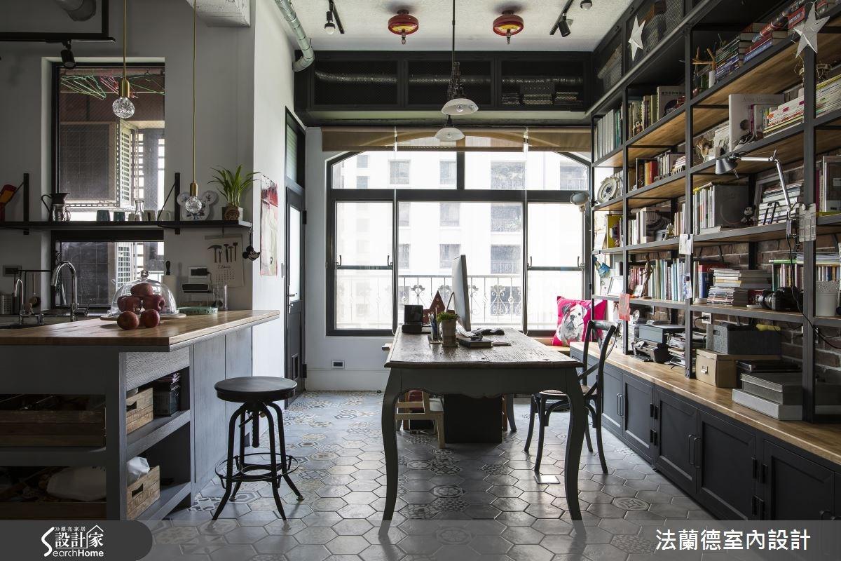 42坪老屋(16~30年)_工業風餐廳吧檯案例圖片_法蘭德室內設計_法蘭德_27之9