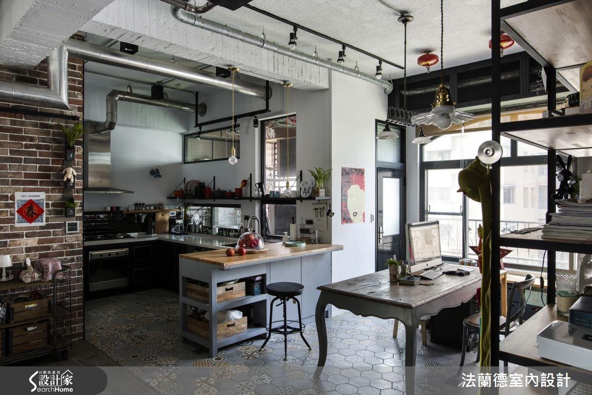 42坪老屋(16~30年)_工業風餐廳廚房案例圖片_法蘭德室內設計_法蘭德_27之10