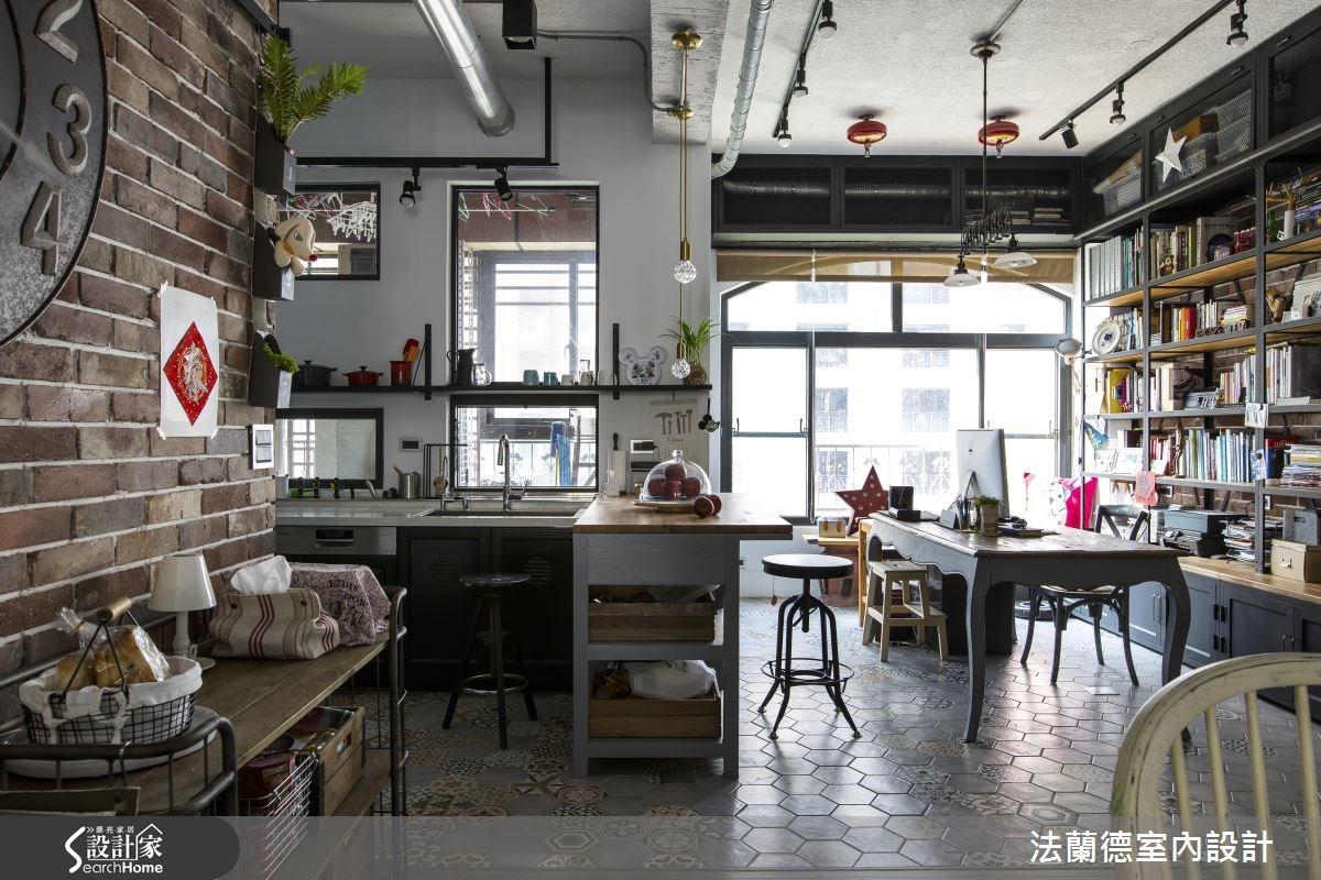 42坪老屋(16~30年)_工業風餐廳廚房吧檯案例圖片_法蘭德室內設計_法蘭德_27之11
