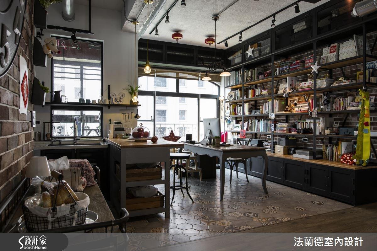 42坪老屋(16~30年)_工業風餐廳廚房案例圖片_法蘭德室內設計_法蘭德_27之12