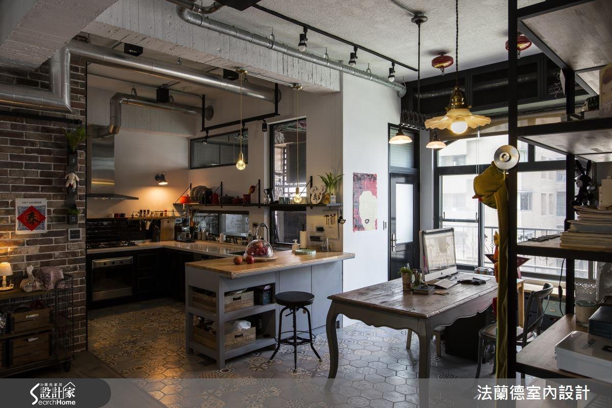 42坪老屋(16~30年)_工業風餐廳廚房吧檯案例圖片_法蘭德室內設計_法蘭德_27之13