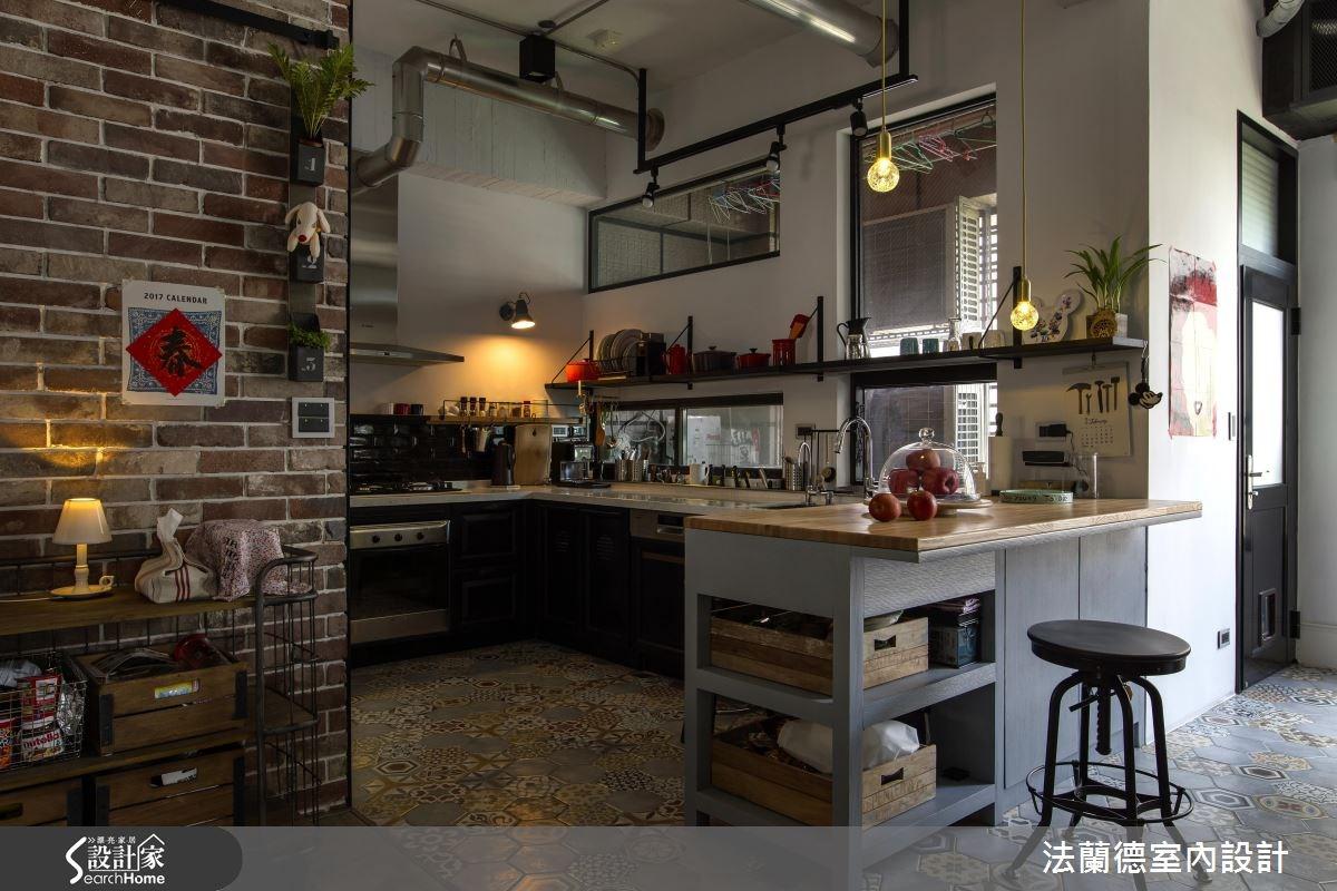 42坪老屋(16~30年)_工業風廚房吧檯案例圖片_法蘭德室內設計_法蘭德_27之14