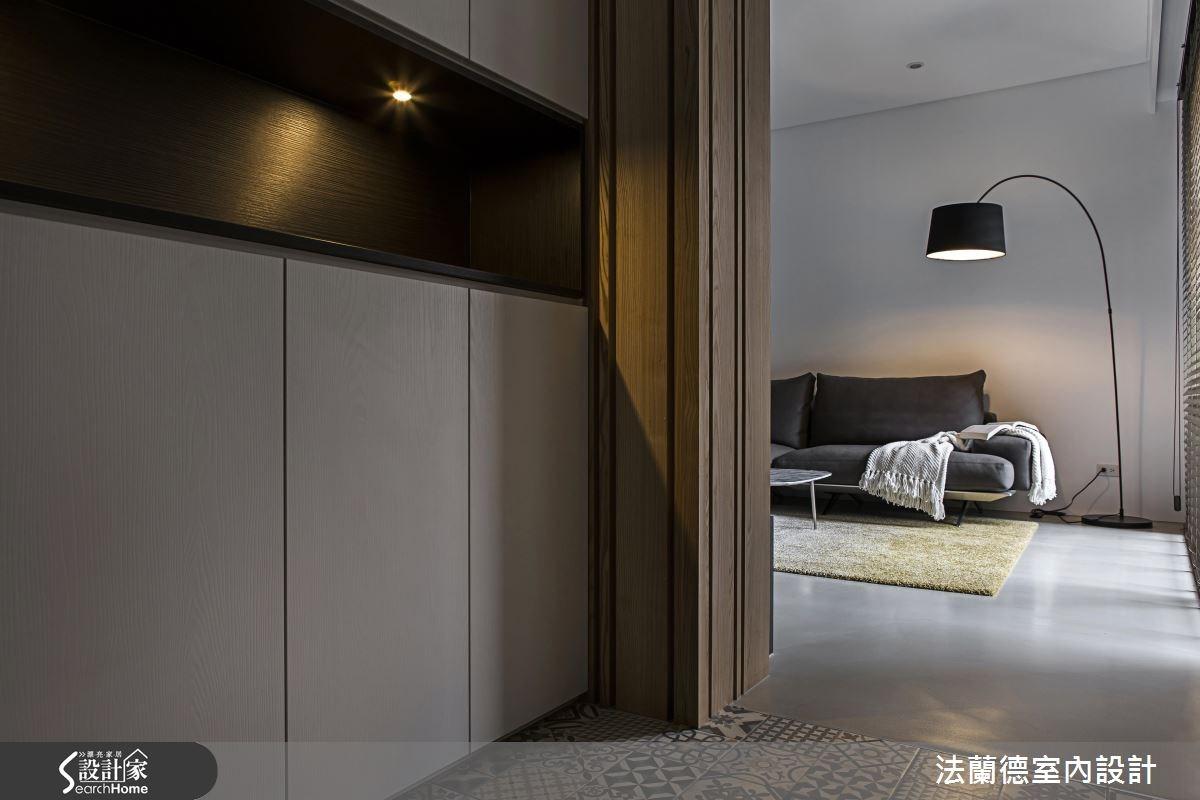 35坪新成屋(5年以下)_簡約風玄關案例圖片_法蘭德室內設計_法蘭德_28之1
